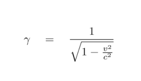 Lorentz Factor Gamma Equation