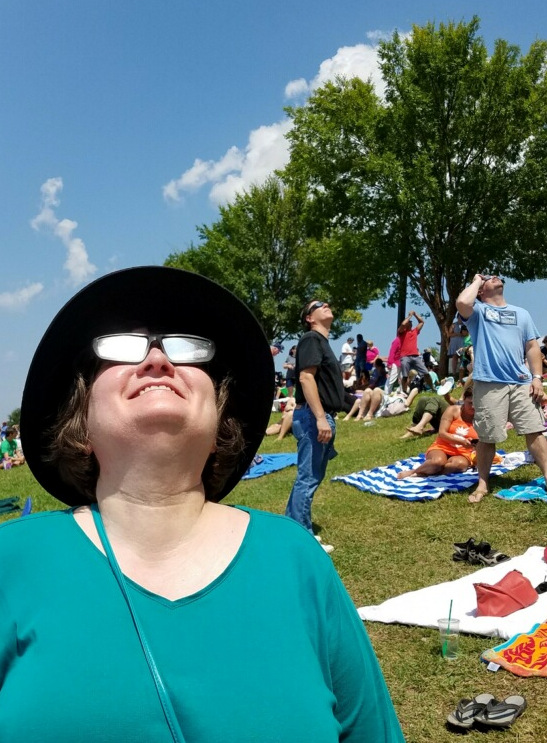 2017 Eclipse - Kathy and Tarus looking up