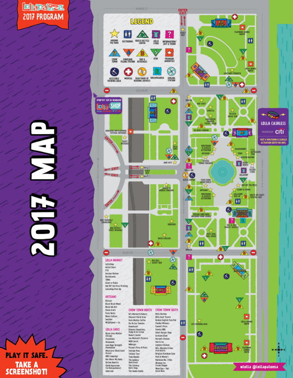Lollapalooza - map