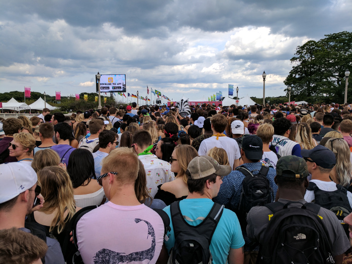 Lollapalooza - Line at the Main Entrance