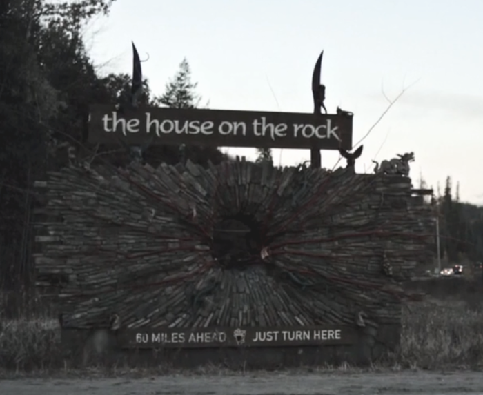 House on the Rock sign from American Gods