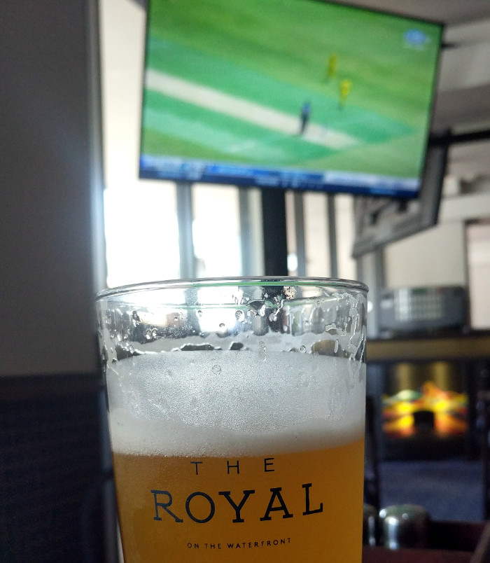 Beer and Cricket on TV