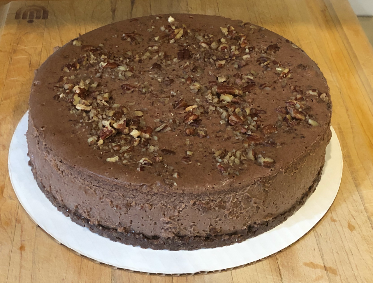 Chocolate Bourbon Pecan Cheesecake